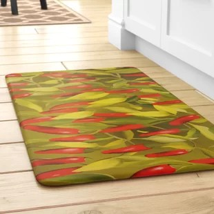 kitchen rugs and mats island home depot chili pepper wayfair easterbrooks mat