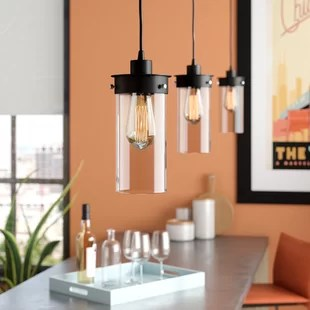 kitchen island pendant lights antique furniture lighting you ll love wayfair millet 3 light