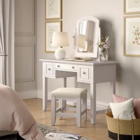 Corner Makeup Vanity Table | Wayfair