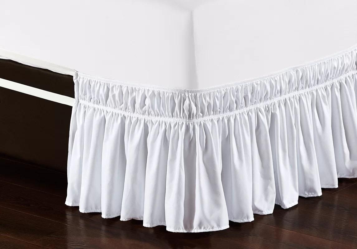 De Moocci Easy Wrap Platform Free Dust Ruffle Bed Skirt