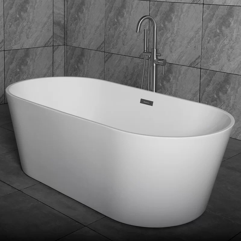 WoodBridge 59 X 295 Freestanding Soaking Bathtub