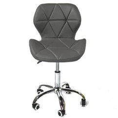 Grey Material Office Chair Replacement Wood Seats Fabric Wayfair Co Uk Quickview