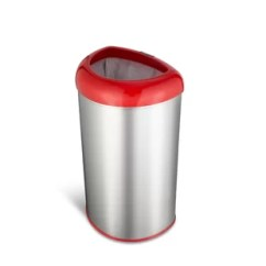 Red Kitchen Trash Can Lowes Cabinet Knobs Cans You Ll Love Wayfair Quickview