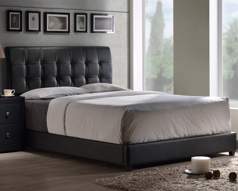Latitude Run Balam Upholstered Bed Panel Bed & Reviews