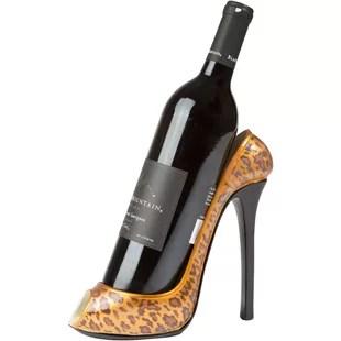 leopard high heel chair cover hire rockhampton wayfair print 1 bottle tabletop wine rack