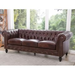 Tufted Brown Leather Sofa Ligne Roset Sofas Back You Ll Love Wayfair Ca Save
