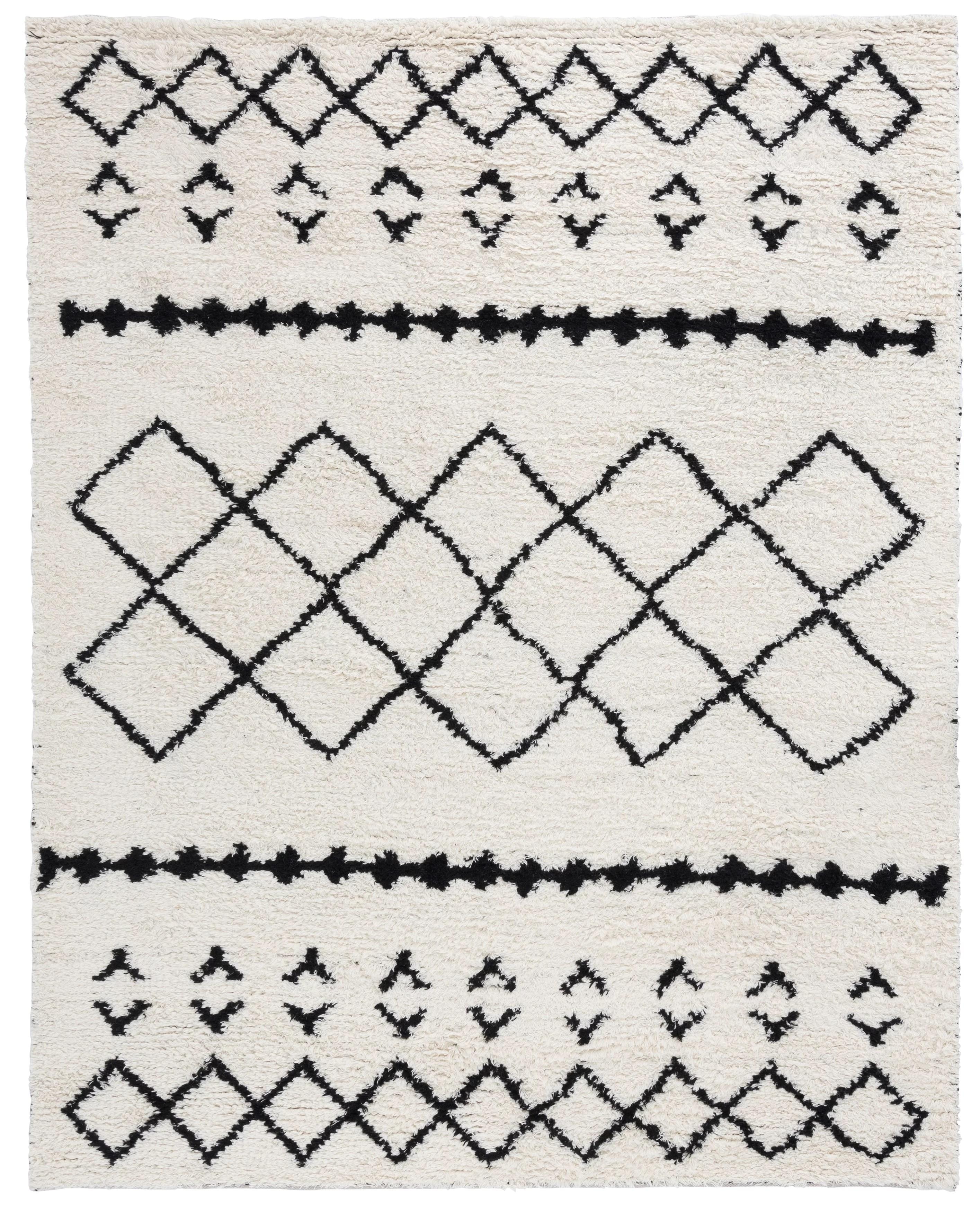 Union Rustic Turcotte Handmade Kilim Wool Cotton Ivory