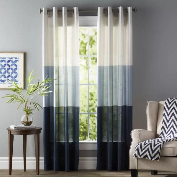Grommet Striped Curtain Panels