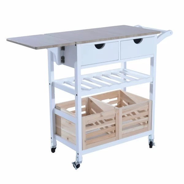 drop leaf kitchen cart childrens toy winston porter nikolai rolling wayfair