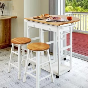 kitchen island with bar metal outdoor cabinets islands breakfast carts you ll love wayfair quickview
