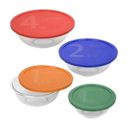 sonstige 5 piece multi coloured lid