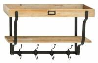 Wood And Metal Wall Mounted Coat Rack & Reviews | Birch Lane