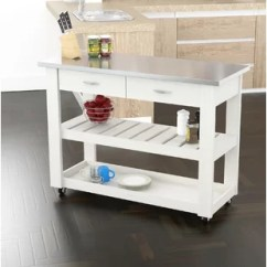 Stainless Steel Kitchen Cart Updates Islands Carts You Ll Love Wayfair Maglione