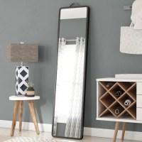 Latitude Run Modern Floor Leaning Full Length Mirror ...