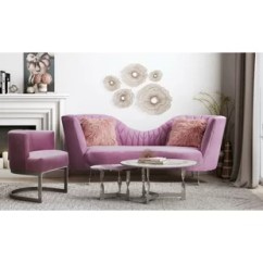 Pink Living Room Set Dark Brown Leather Furniture Sets You Ll Love Wayfair Quickview