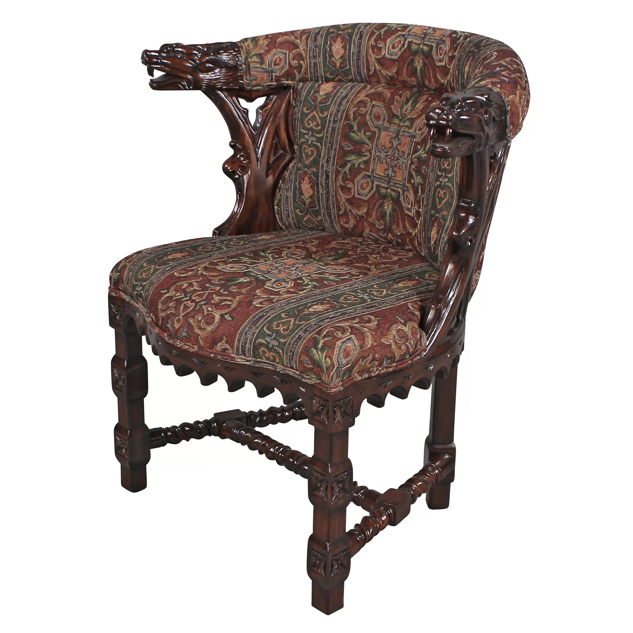 Dragon Chair Design Toscano Kingsman Manor Dragon Fabric Barrel Chair