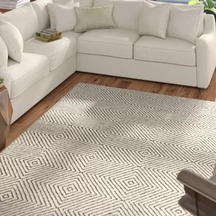 neutral rugs for living room ethan allen pics area you ll love wayfair marcelo hand tufted wool cotton ivory rug