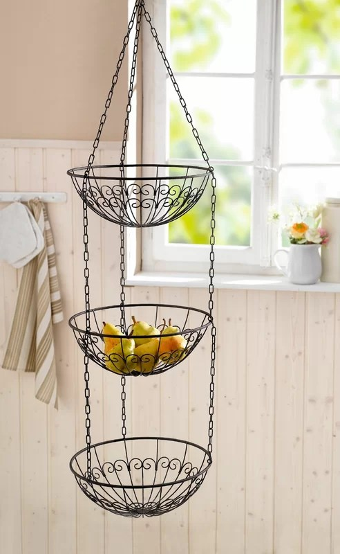 kitchen fruit basket what are the sharpest knives piersurplus wire hanging reviews wayfair ca