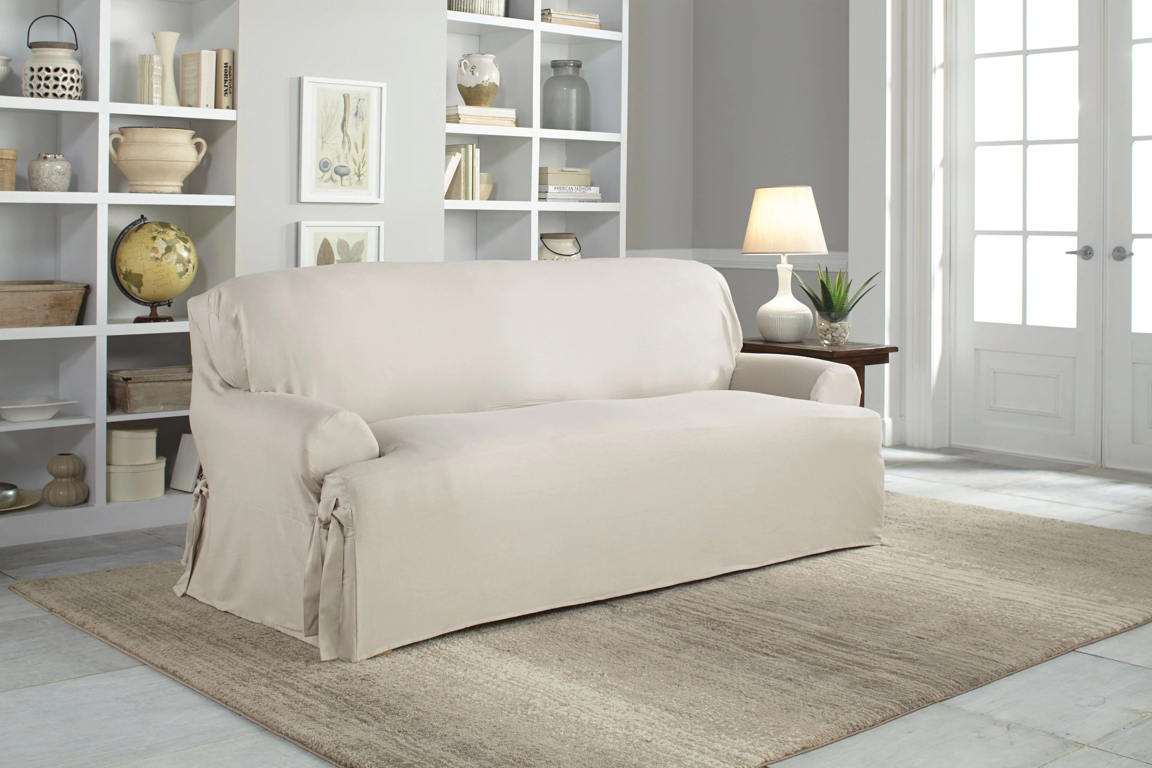 hovas sofa dimensions wood frame loose cushions where can i buy slipcovers for sofas the pottery barn