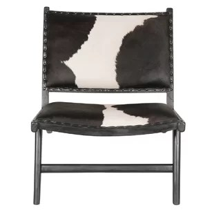 black and white cowhide chair cream leather accent chairs wayfair harley low rider lounge