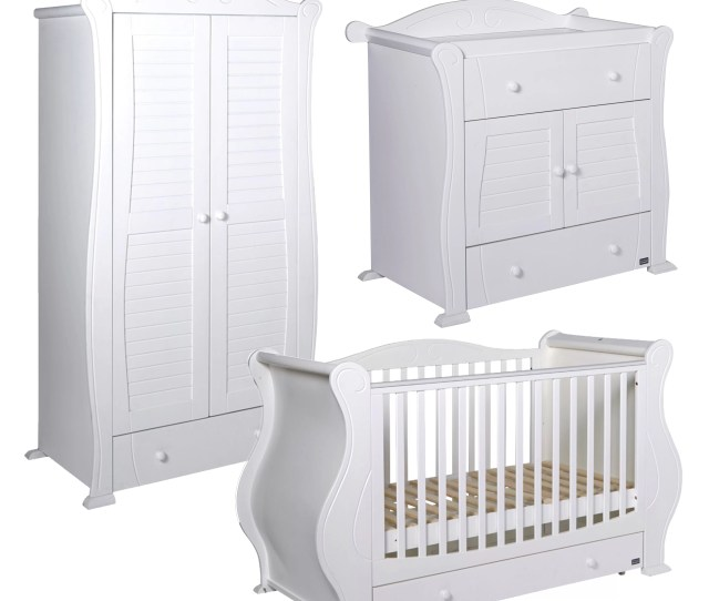 Tutti Bambini Marie Cot Bed 3 Piece Nursery Furniture Set Wayfair Co Uk