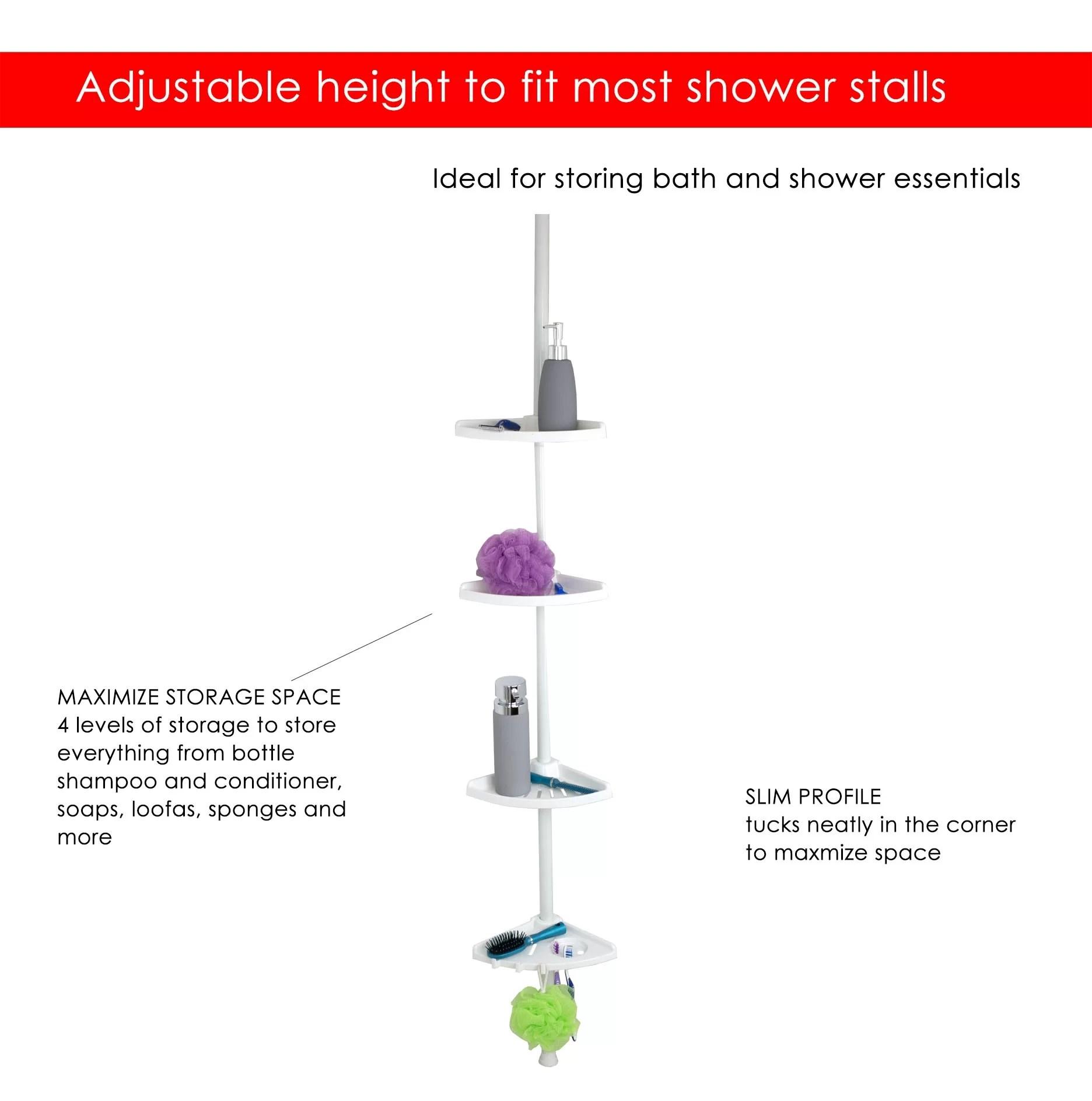 hight resolution of corner shower diagram