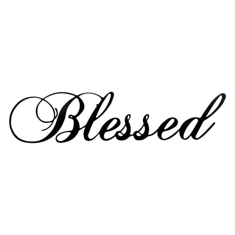 blessed steel wall décor