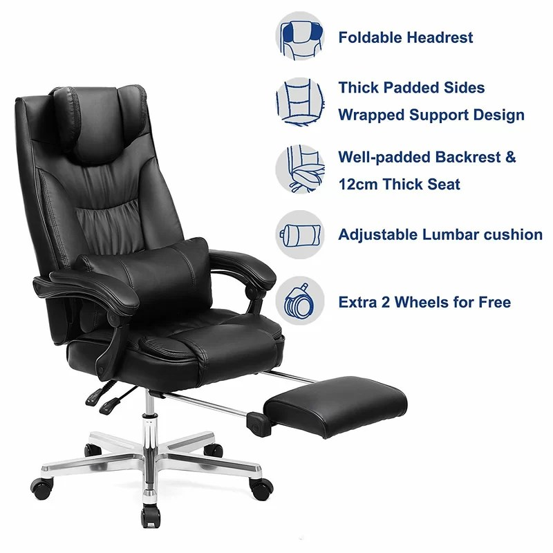folding executive chair exercises pdf rebrilliant ethan foldable ergonomic wayfair