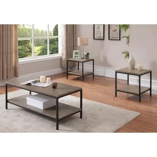3 piece living room table set small with sofa and 2 chairs grey coffee sets you ll love wayfair hallett