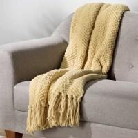 Three Posts Nader Tweed Knitted Throw Blanket & Reviews ...