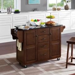 Granite Top Kitchen Cart Home Depot Cabinet Doors Charlton Iyana With Wayfair Ca
