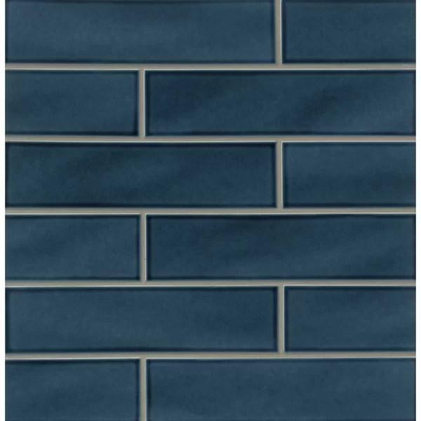 GSMT Park Place 388 X 16 Ceramic Field Tile In Dark Blue Wayfair