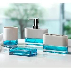 teal bathroom accessories | wayfair