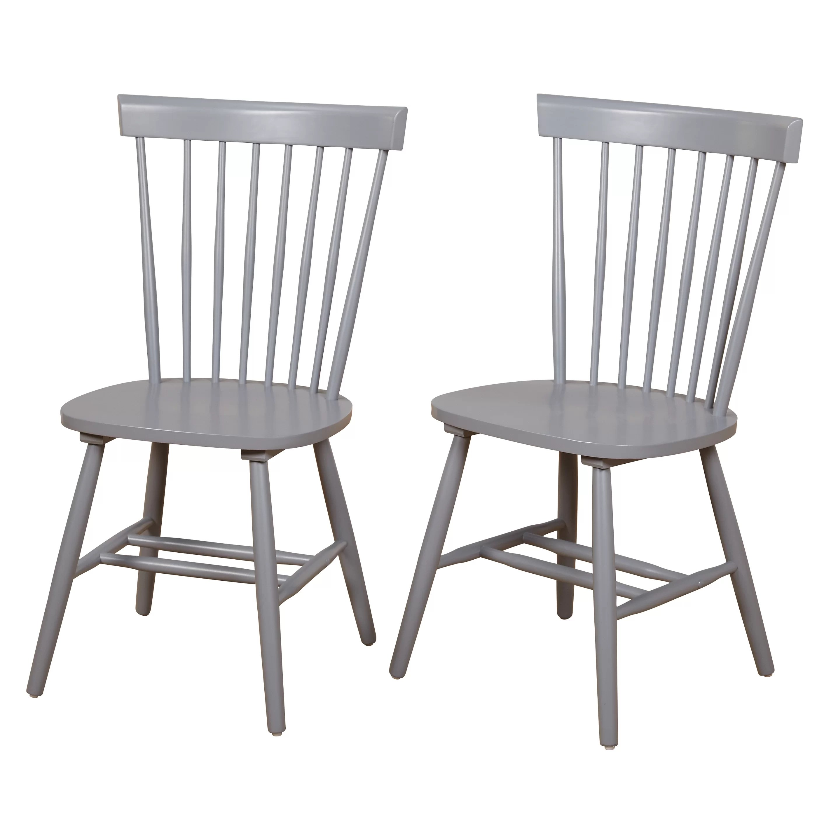 White Wooden Dining Chairs Beachcrest Home Royal Palm Beach Solid Wood Dining Chair