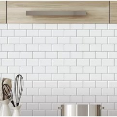 Stick On Backsplash Tiles For Kitchen Granite Table Peel And Tile You Ll Love Wayfair Ca 12 X Pvc Mosaic In White