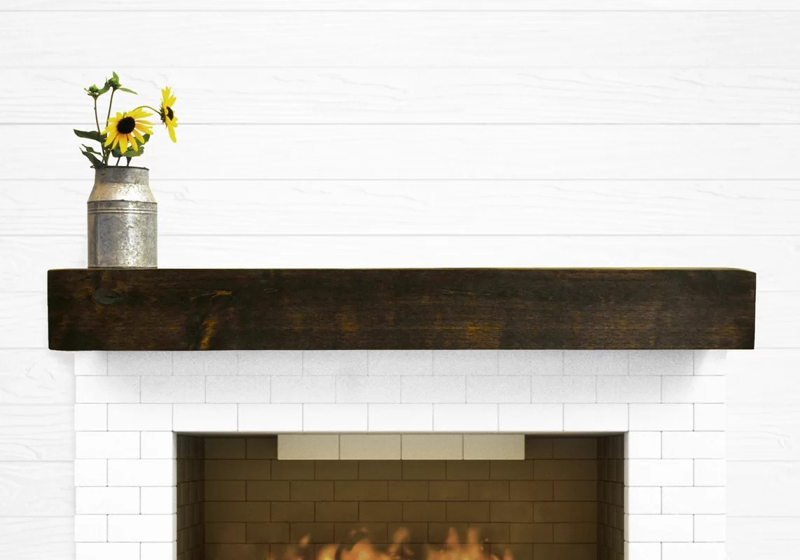 Dogberry Collections Modern Farmhouse Fireplace Mantel