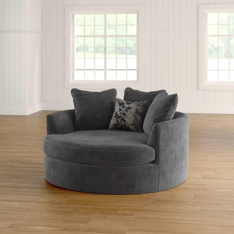 Laurel Foundry Modern Farmhouse Marta Cuddler Chair and a