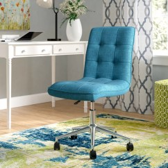 Aqua Desk Chair Patio With Shade Andover Mills Geraghty Mid Back Reviews Wayfair