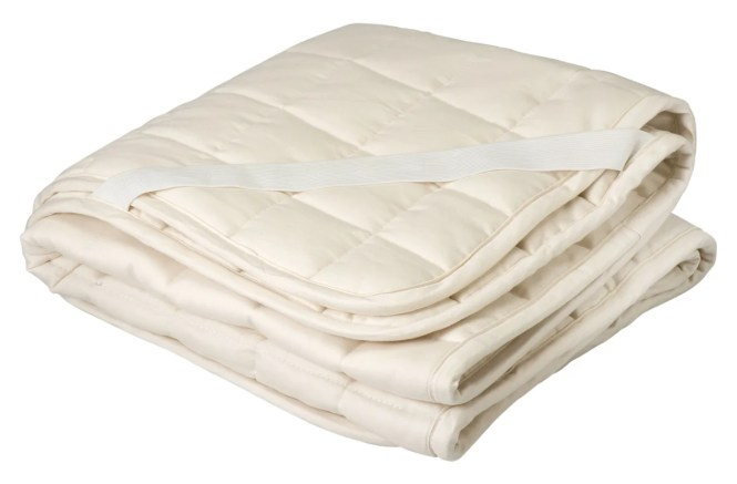 Organic Cotton And Wool Filled Crib Mattress Topper Puddle Pad