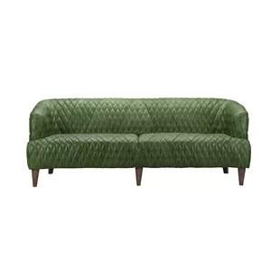 dark green leather sofa grey brown carpet seafoam wayfair quickview