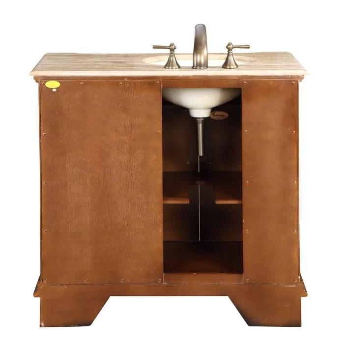 Silkroad Exclusive Charlotte 38 Single Bathroom Vanity Set  Reviews  Wayfair