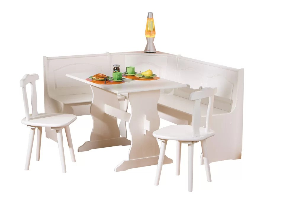 AlpenHome Wamsutter Corner Dining Set With 2 Chairs And