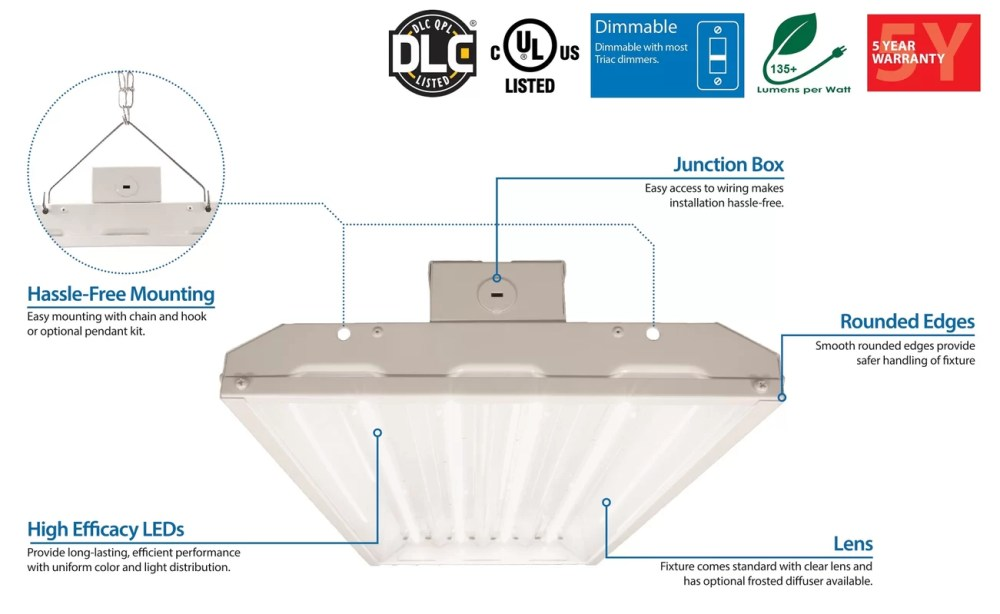 medium resolution of integrated led high bay