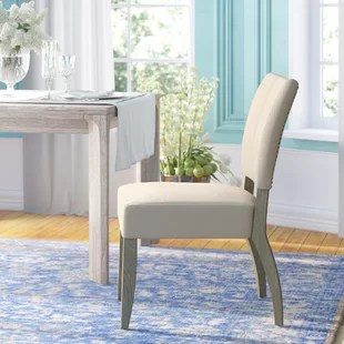 chairs for kitchen table retro sets dining you ll love wayfair willsey upholstered chair set of 2