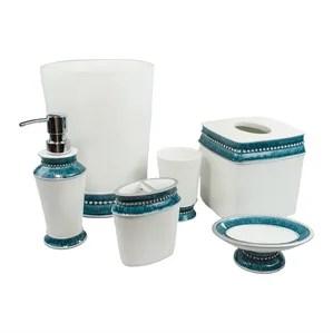 teal bathroom accessories set | wayfair