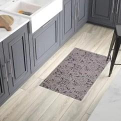 Grey Kitchen Mat Stripping Cabinets Mats You Ll Love Wayfair Queen Charlton All Weather Modern Runner