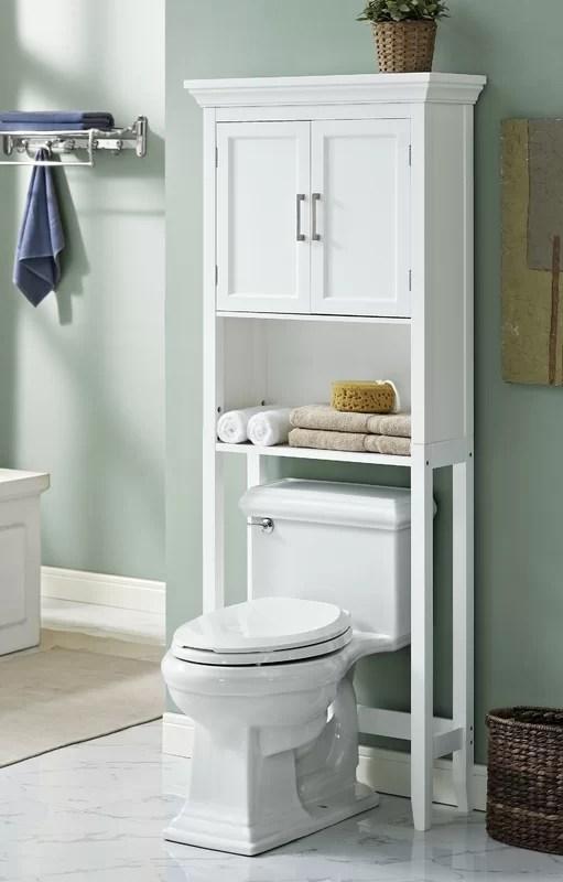 """simpli home avington 27"""" w x 67"""" h over the toilet storage"""