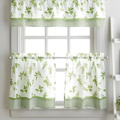 Kitchen Swags Colors For Cabinets Long Curtains Wayfair Cherelle Herb Graden