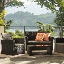 Charmain 4 Piece Sofa Set With Cushions & Joss