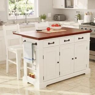kitchen island set pantry with 4 stools wayfair quickview